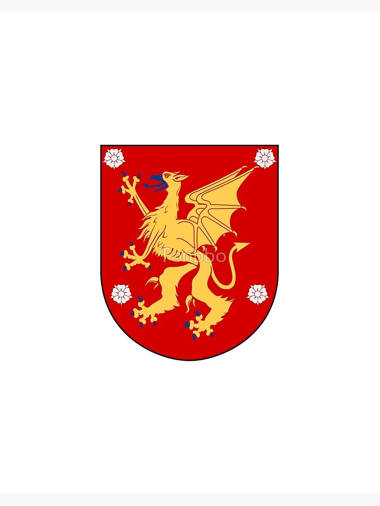 Ostergotland Coat Of Arms Sweden Art Board Print By Tonbbo Redbubble