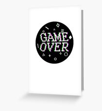 Game Over Video Game Glitch Greeting Card
