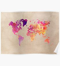 world map 93 #worldmap #map #world Poster