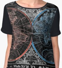 world map Women's Chiffon Top