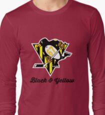 Black Yellow Wiz Penguins Pittsburgh hiphop Long Sleeve T-Shirt