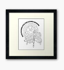 Gizzard Black and White Framed Print