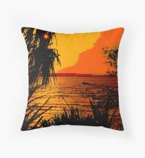 Indian River Sunset Throw Pillow