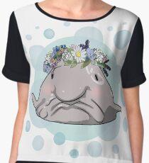 Blobfish Flowercrown Women's Chiffon Top