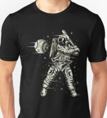 Astronaut Baseball Player In Outer Space Unisex T-Shirt