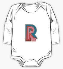 Chunky vibrant alphabet R One Piece - Long Sleeve