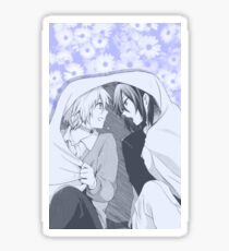 No. 6- Nezumi & Shion (pastel purple flower backdrop) Sticker