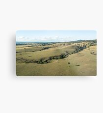 Country agricultural and farming field Metal Print