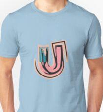 Chunky vibrant alphabet U Unisex T-Shirt