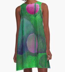 Greenish Sphere A-Line Dress