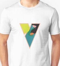Chunky vibrant alphabet V Unisex T-Shirt