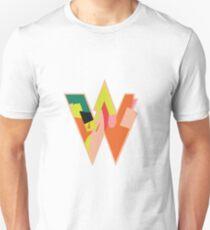 Chunky vibrant alphabet W Unisex T-Shirt