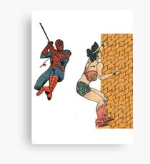 Wall Climbers Canvas Print
