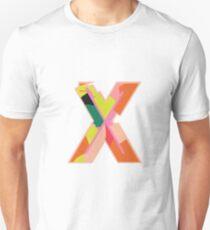 Chunky vibrant alphabet X Unisex T-Shirt