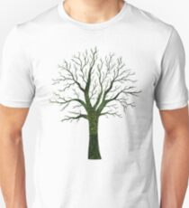 Green Glitter Tree Bark Unisex T-Shirt