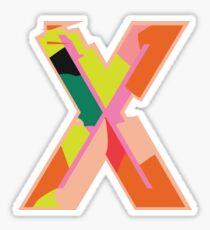 Chunky vibrant alphabet X Sticker