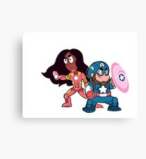 Steven & Connie: Assemble! Canvas Print
