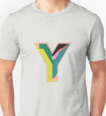 Chunky vibrant alphabet Y Unisex T-Shirt