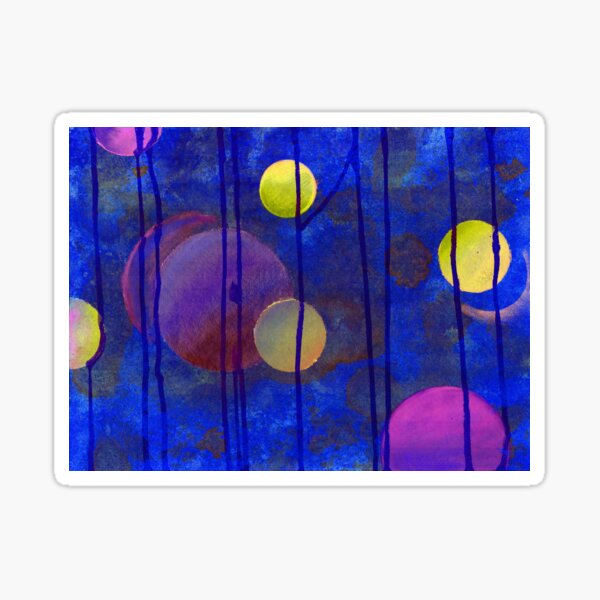 blue sphere Sticker