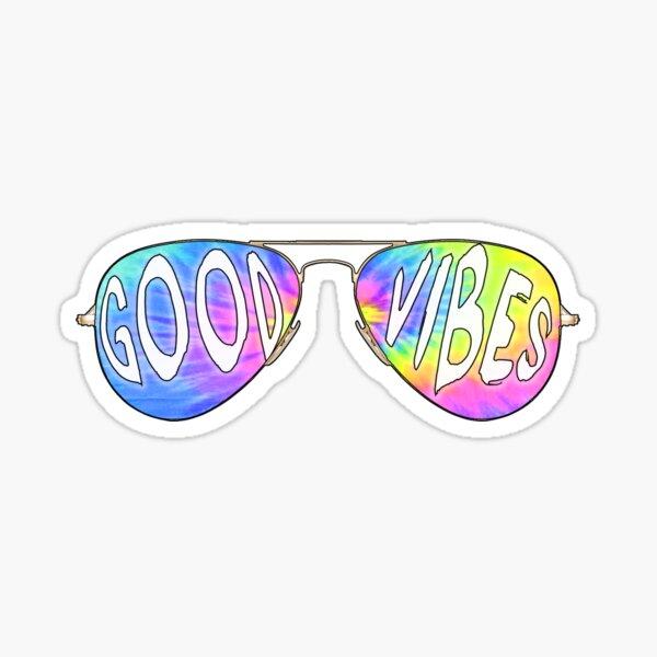 good vibes sunglasses Sticker
