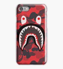 shark bape red iPhone Case/Skin