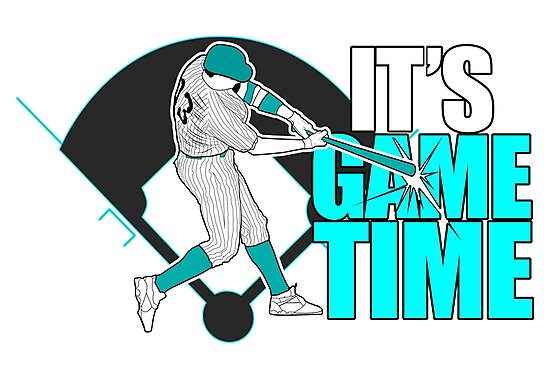 It's Game Time - Baseball (Aqua) by Adam Santana