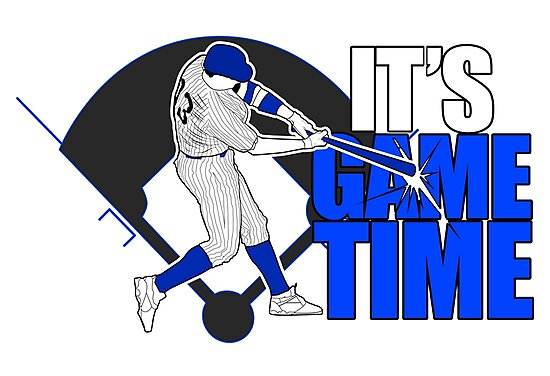 It's Game Time - Baseball (Blue) by Adam Santana