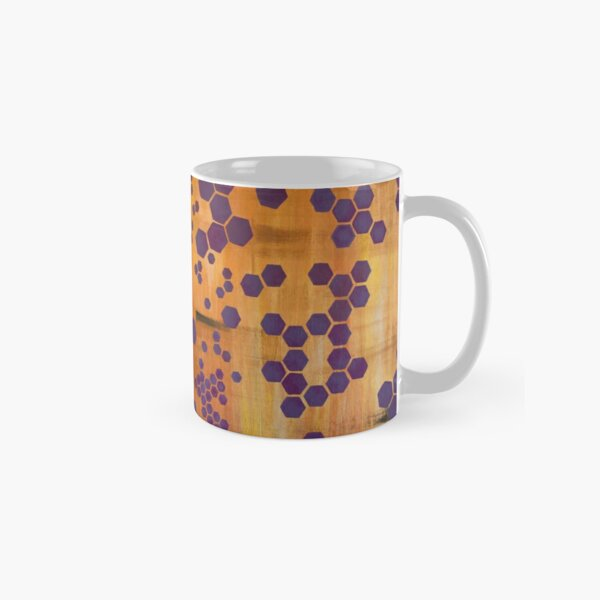 Purple Hexagons Classic Mug