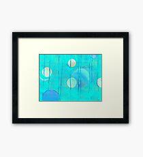 turquoise sphere Framed Print