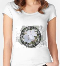 Hydrangea Circle Women's Fitted Scoop T-Shirt