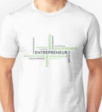 Entrepreneur Word Cloud Successful Venture Work Hard Tshirt T-Shirt