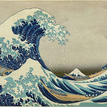 The Great Wave off Kanagawa by Katsushika Hokusai by robertpartridge