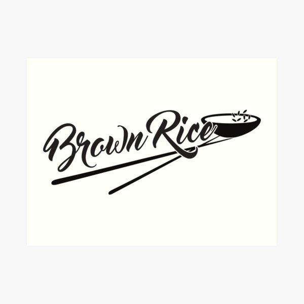 Styled Brown Rice Art Print