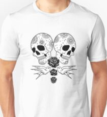 Black Rose Skulls Unisex T-Shirt