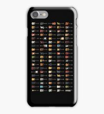 95 Pixel Guitars and Basses and a Keyboard iPhone Case/Skin
