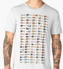 95 Pixel Guitars and Basses and a Keyboard Men's Premium T-Shirt
