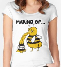 How To Make Funny Honey - The Real Way Women's Fitted Scoop T-Shirt