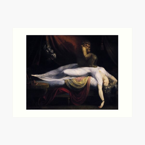 The Nightmare by John Henry Fuseli Art Print