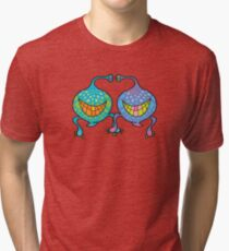 Mr. and Mrs. Blob Monsters Tri-blend T-Shirt