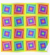Rainbow Geometrical Tunnels Poster