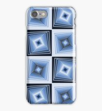 Blue Geometric Tunnels iPhone Case/Skin