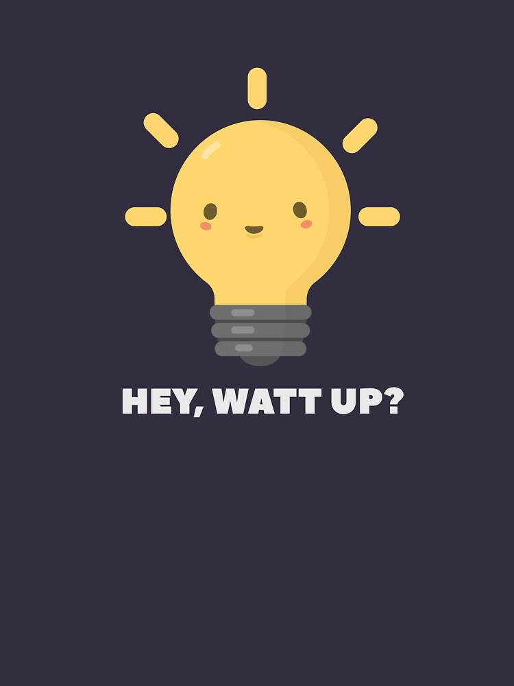 Cute Kawaii Lightbulb Science Pun  by happinessinatee