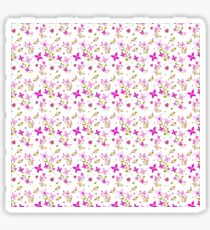 Pink Floral Delight Sticker