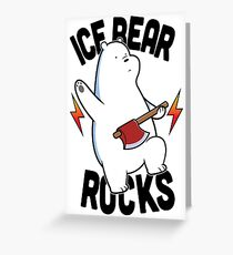 Ice bear Rocks Greeting Card