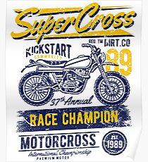 Super Cross Race Champion Poster