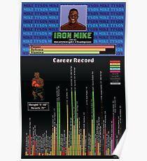 Mike Tyson Career Infographic Poster Poster