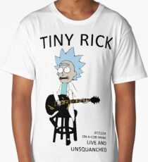 Tiny Rick Unsquanched Tour - Rick and Morty Design Long T-Shirt