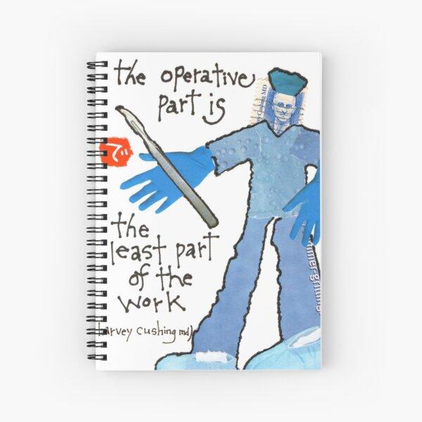 Stamp People Series (Harvey Cushing MD) Spiral Notebook