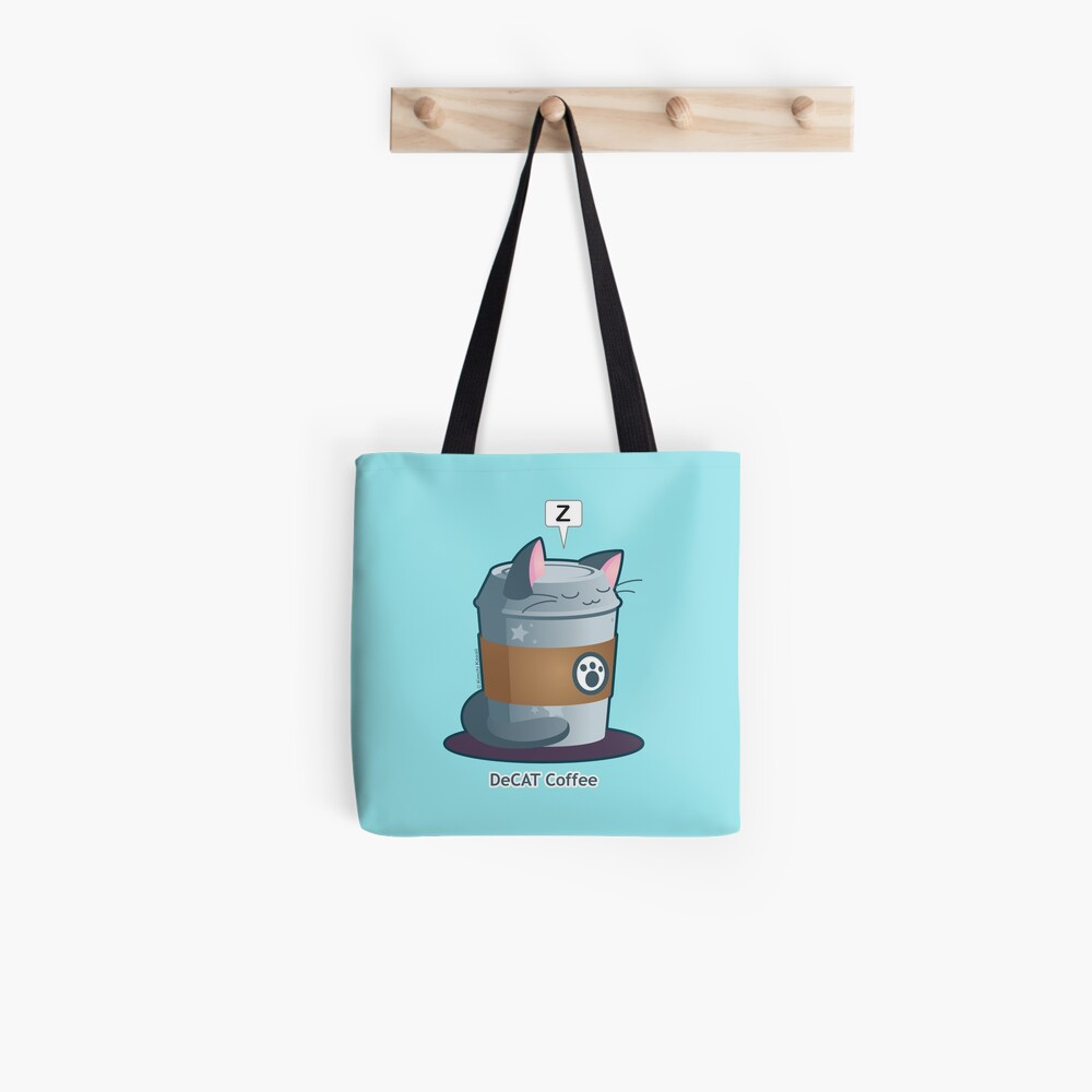 Cute Cat Coffee: Decaff Cat Tote Bag