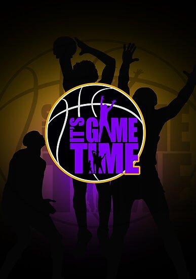 It's Game Time - Purple & Gold by Adam Santana